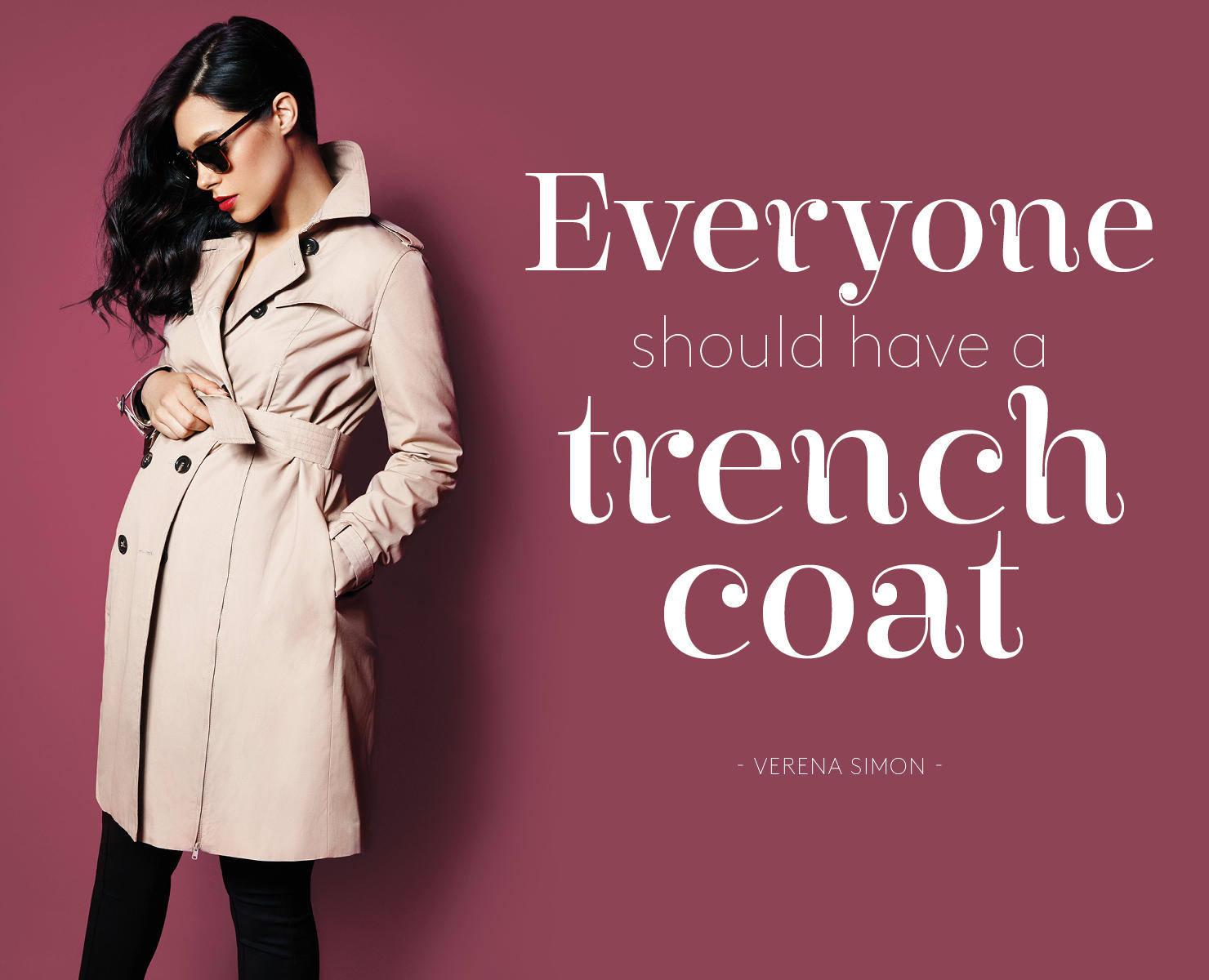 Trench Coat für Schwangere
