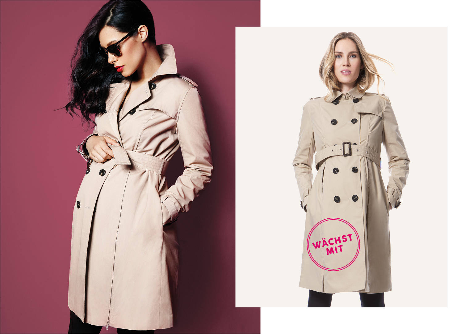 Umstandsmode Must Have: der Umstands Trench Coat