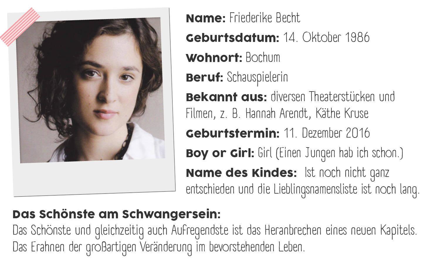 Friederike Becht Interview Steckbrief