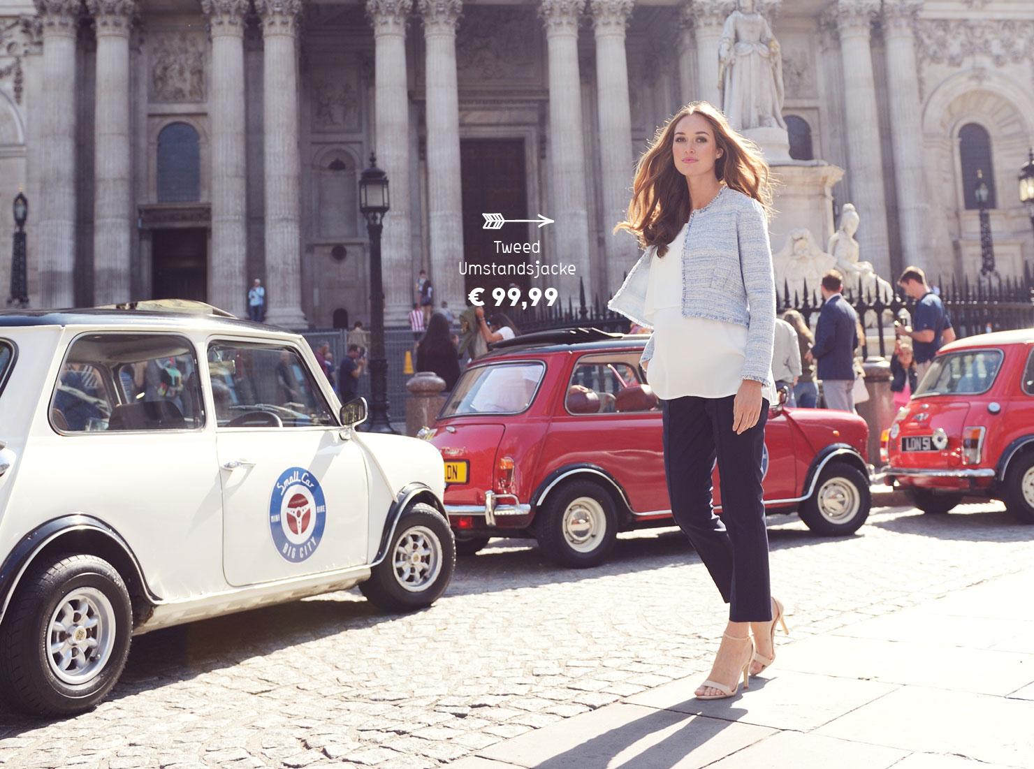 Umstandsmode stylisch und praktisch: Umstandsjacke aus Tweed