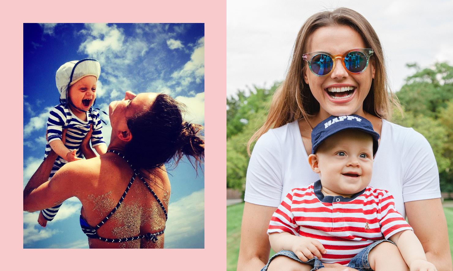 Alena in Mamarella Umstandsmode beim Photoshooting und privat