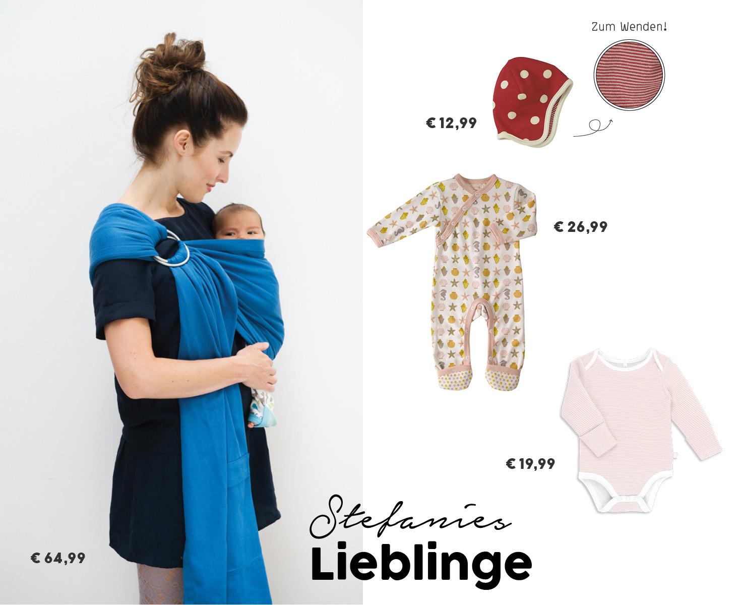 Babymode_Babytragetuch_Biobaumwolle_Strampler_Tragetuch