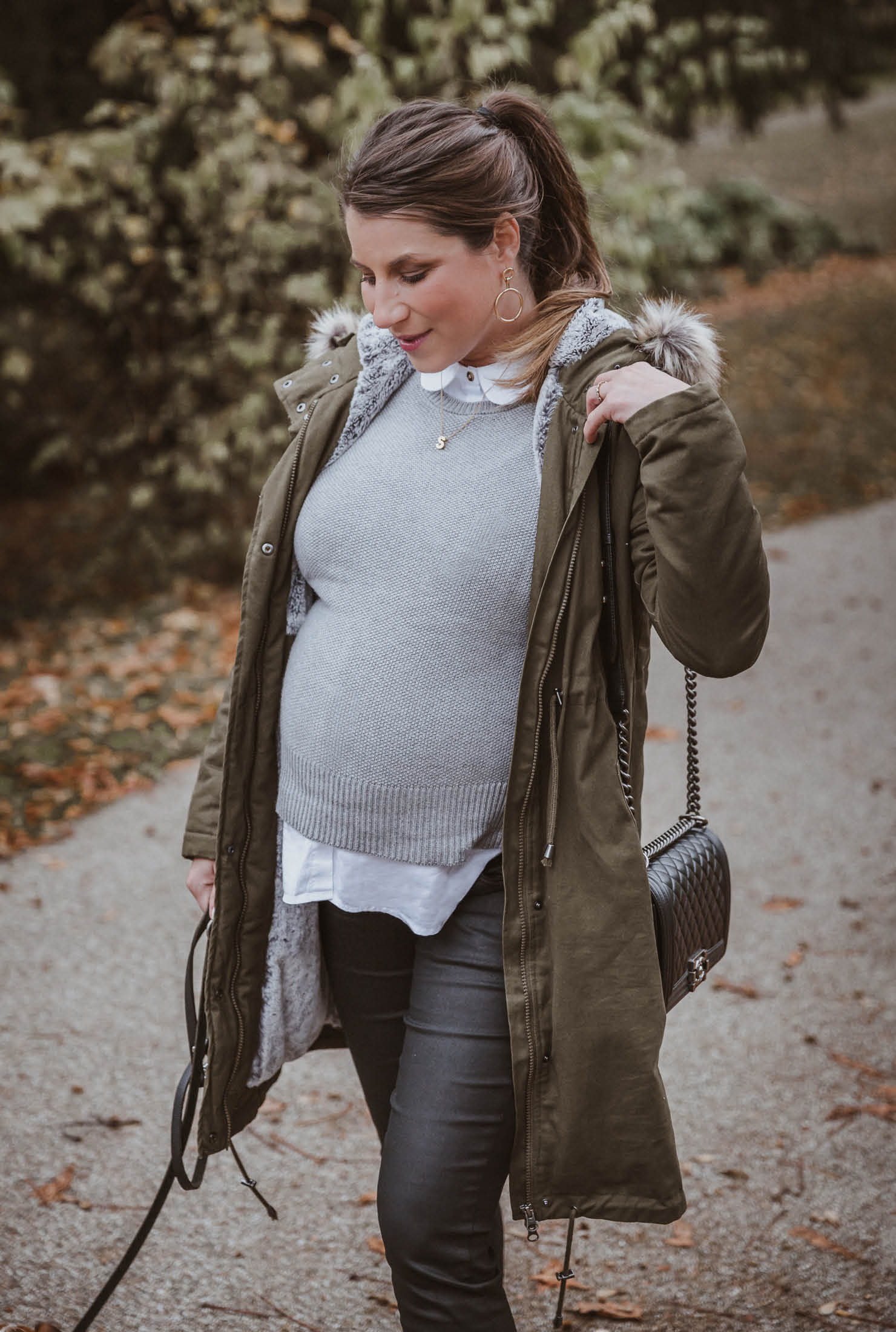 So stylt Bloggerin Stephanie unseren Umstandsparka