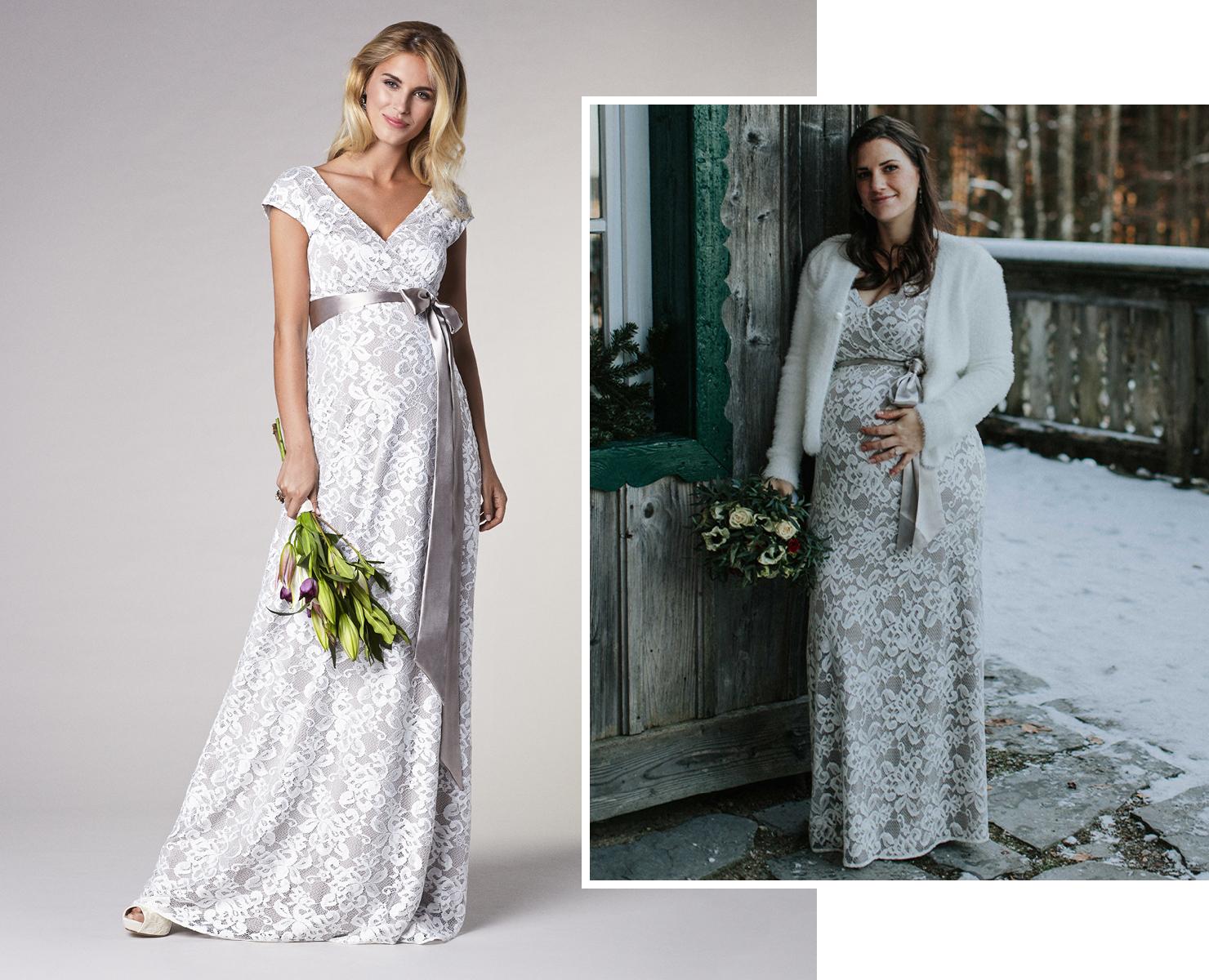 Katharina zeigt ihr Umstandsbrautkleid und ihre Hochzeit mit Babybauch