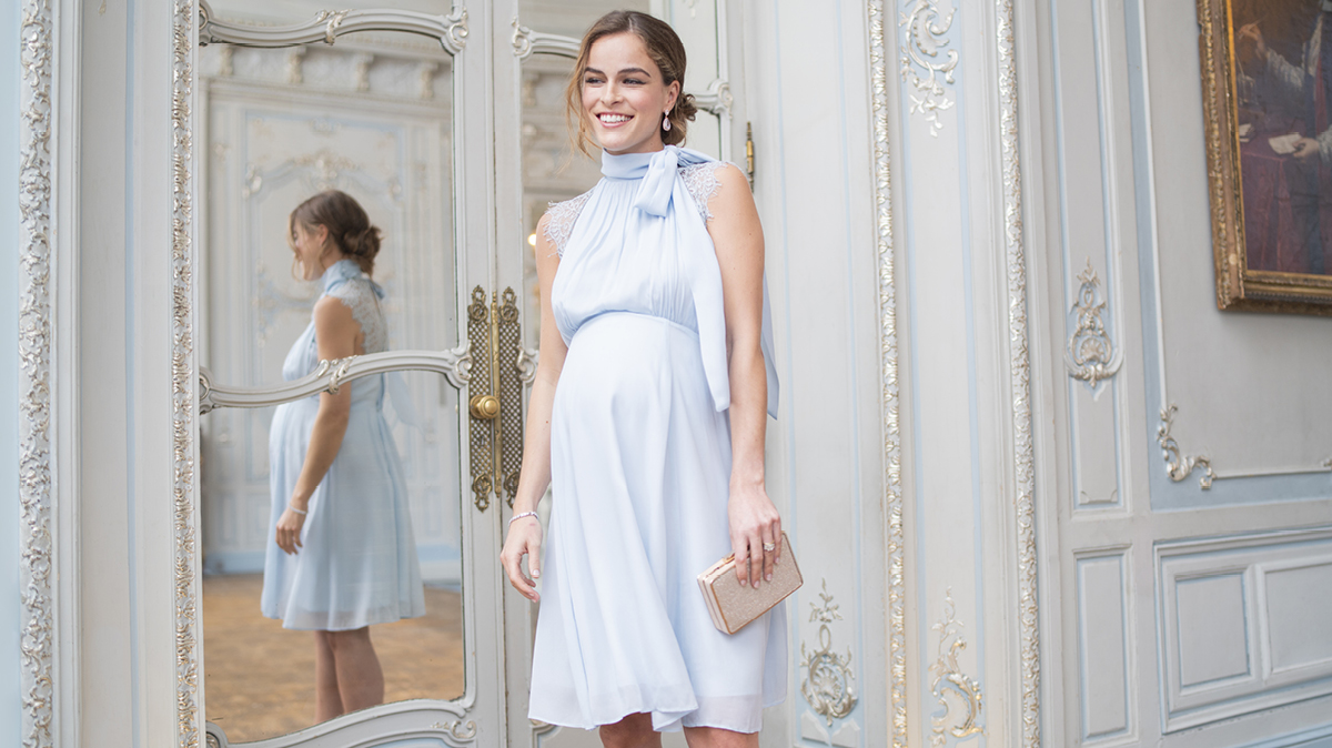 hochzeitsgast mit babybauch: diese umstandskleider passen
