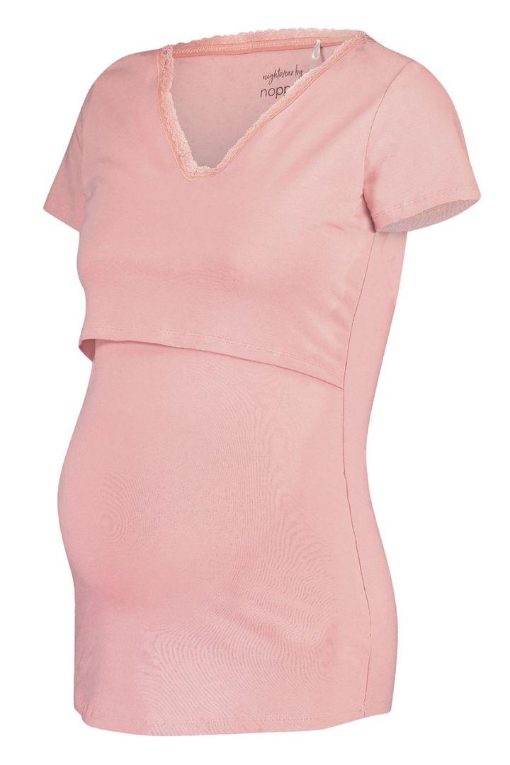Umstands- und Stillshirt aus Bio-Baumwolle rosa