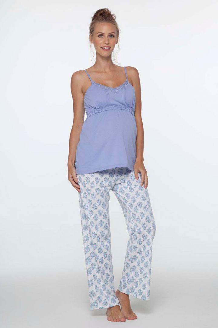 Violette Umstands- und Still-Pyjama