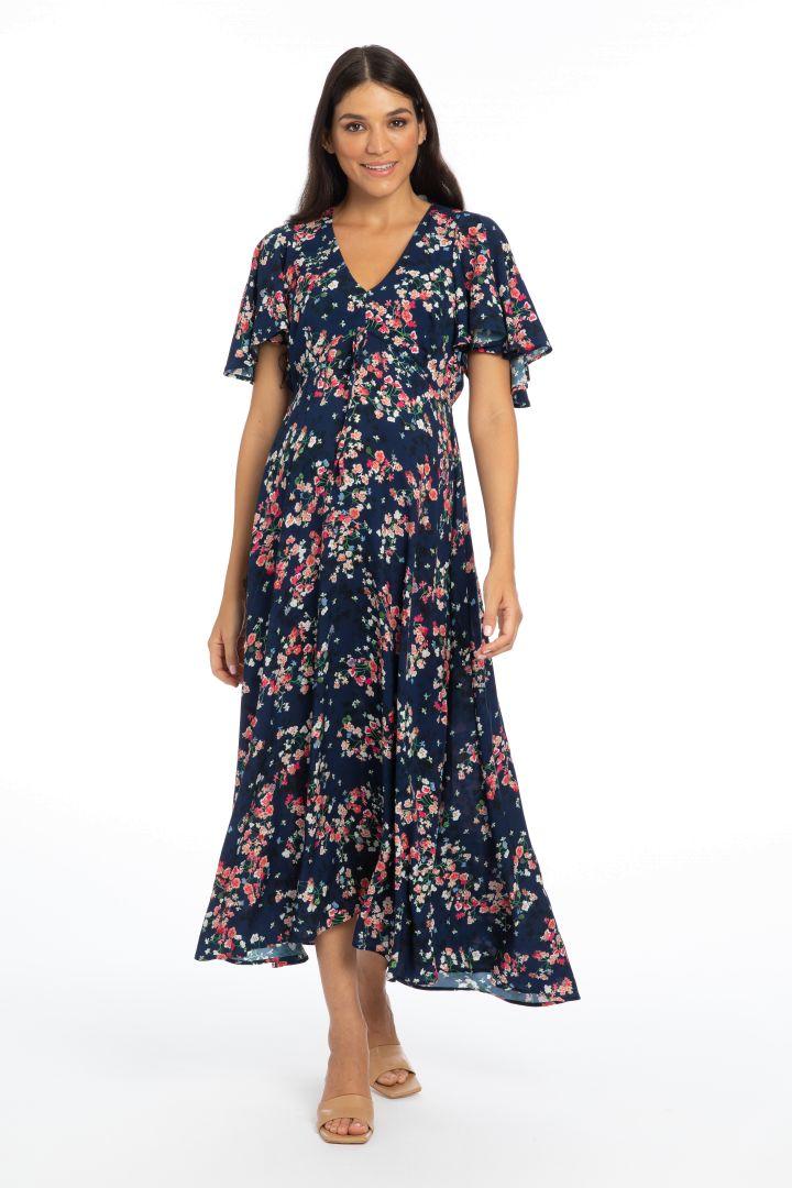 Maxi Maternity Dress Summer Night Print