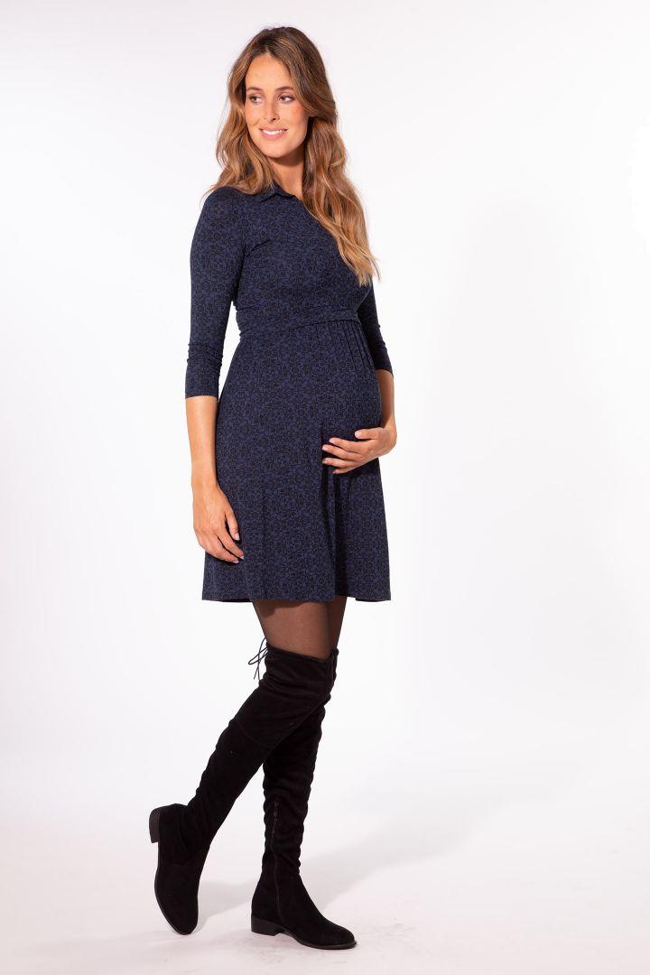 Maternity and nursing dress made from organic bamboo viscose