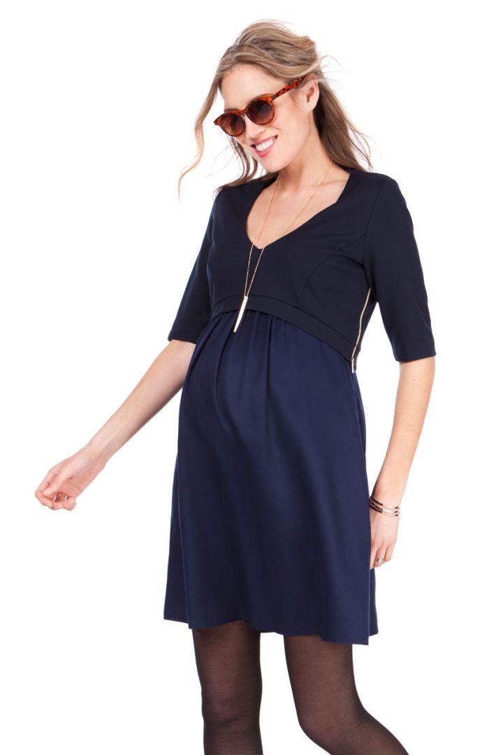 Ponte and Woven Nursing Dress
