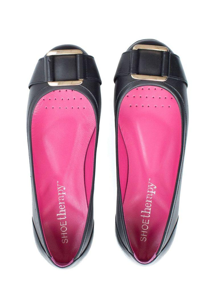 Ballerina mit Schnalle schwarz ShoeTherapy