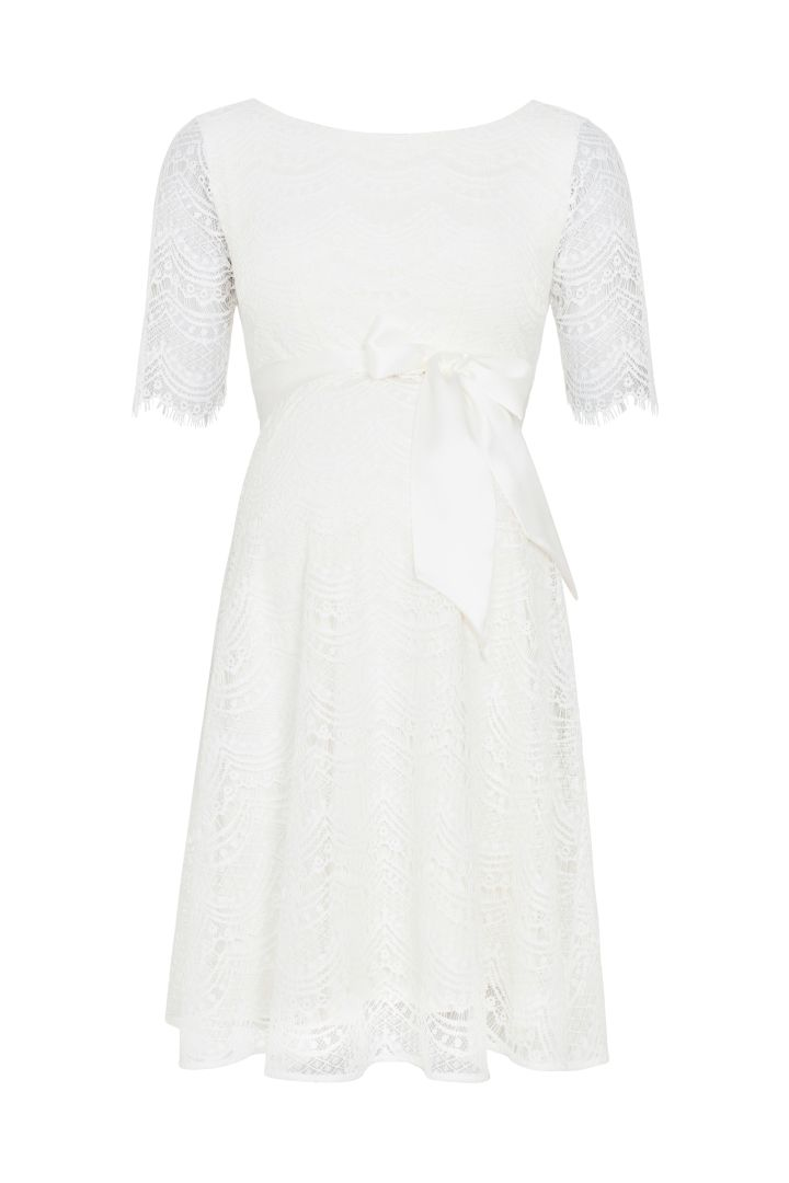 A-Line maternity dress with back cut-out