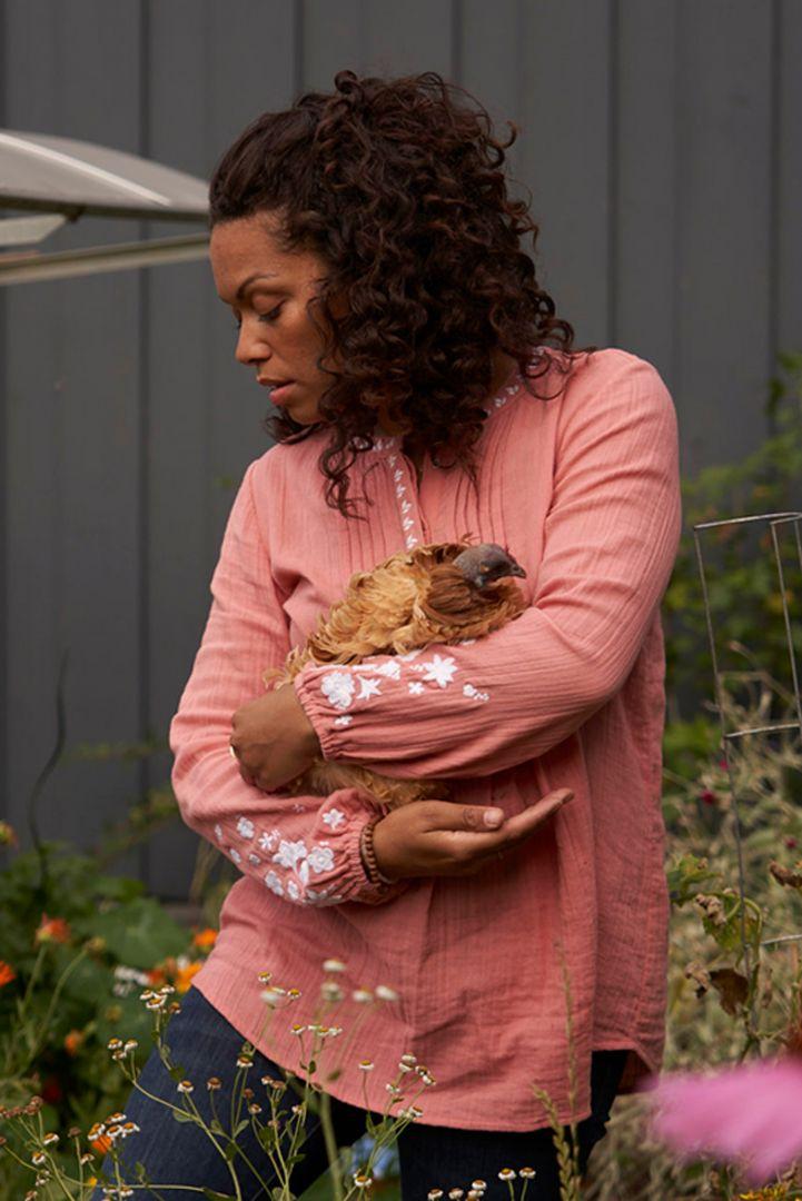 Maternity and Nursing Tunic with Tucks