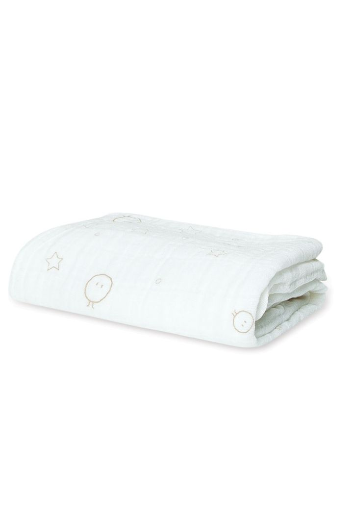Swaddling and burp cloth white