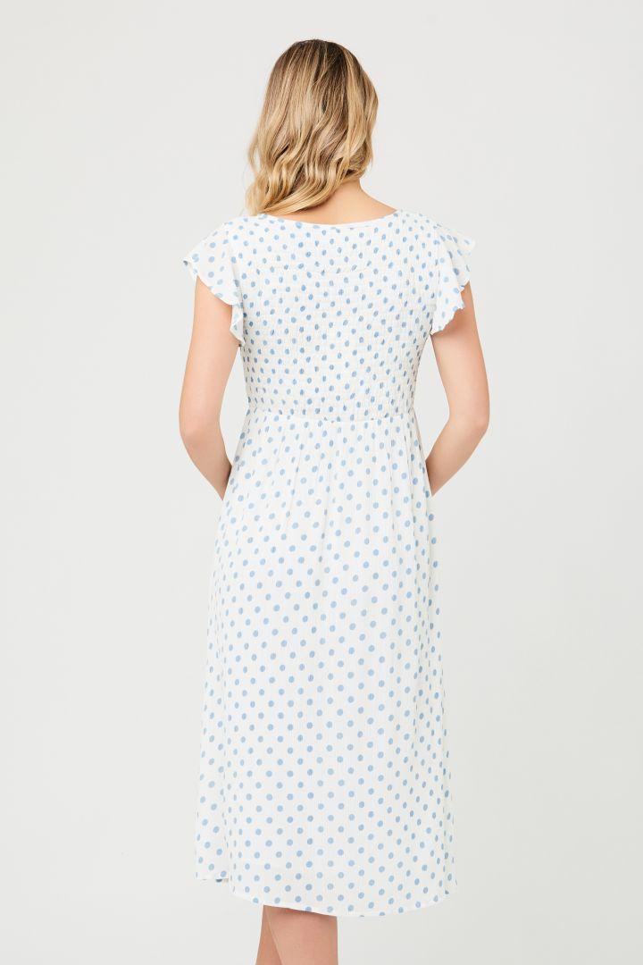 Midi Maternity Dress with Smoked Top