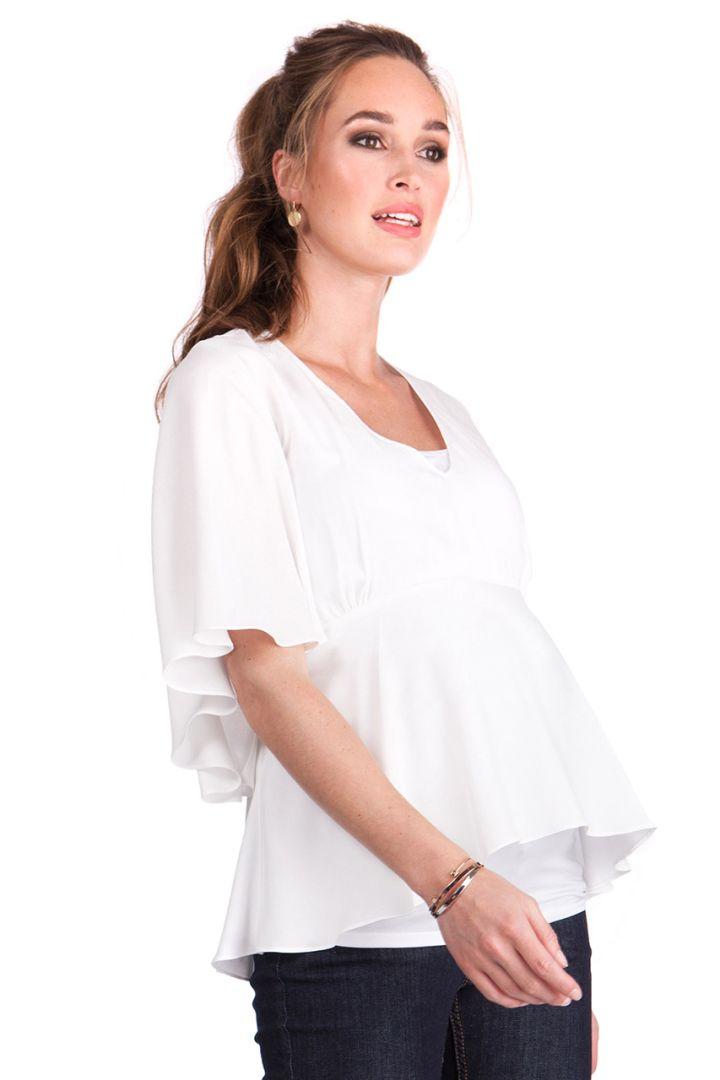Angel Sleeve Maternity Top