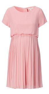 Umstands- und Stillkleid mit Plissees rosa