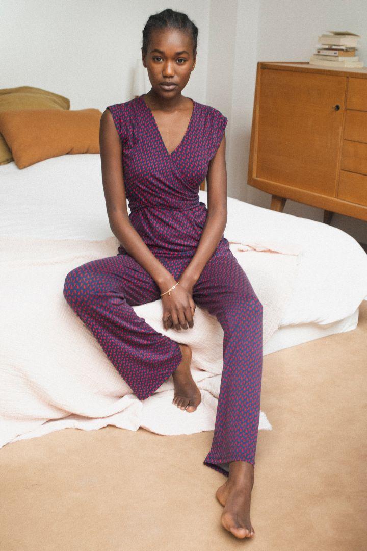 Umstands- und Stillpyjama mit Graphik Print