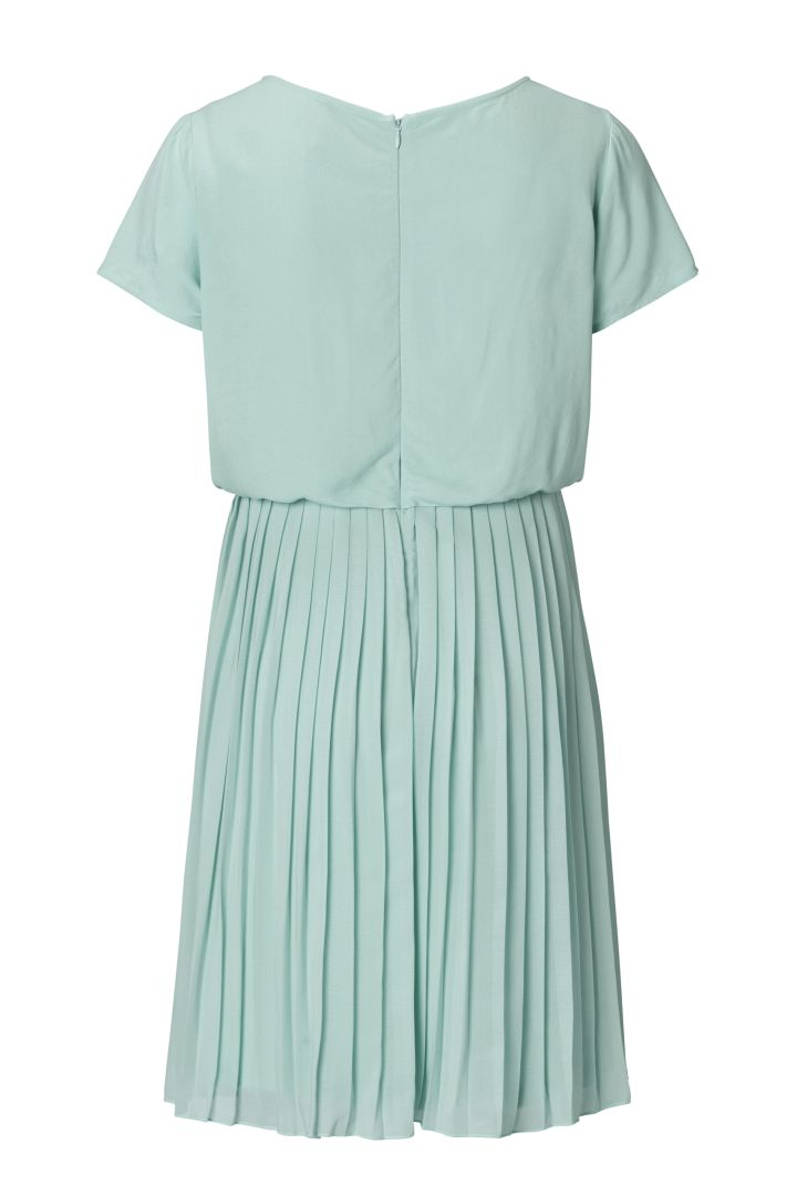 Umstands- und Stillkleid mit Plissees mint
