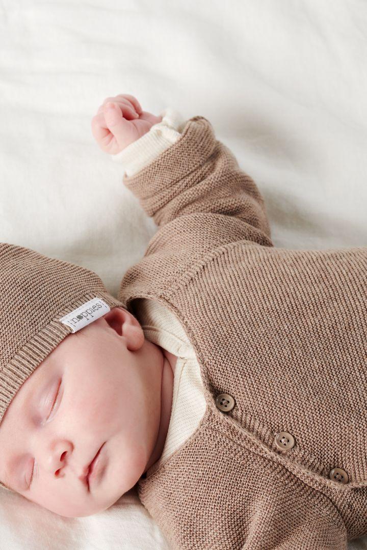 Organic Baby Wrap Cardigan light rose