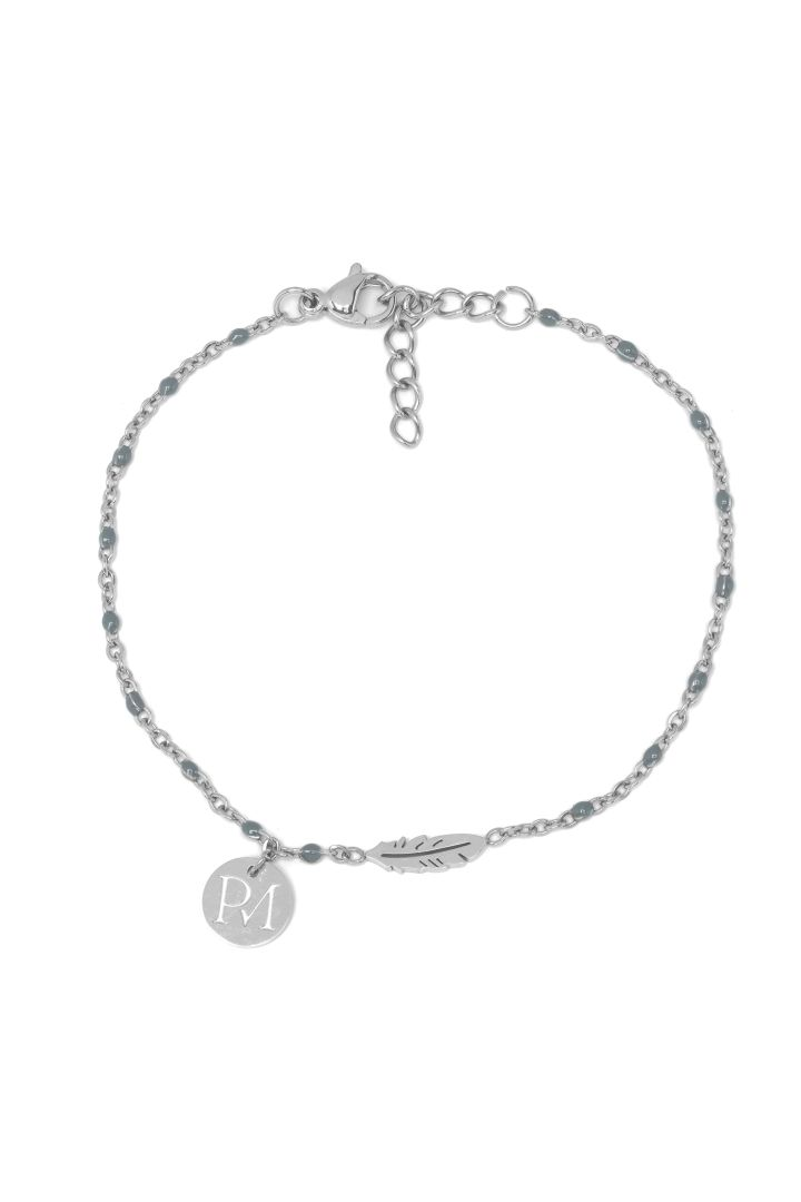 Proud Mama Bracelet Feather silver