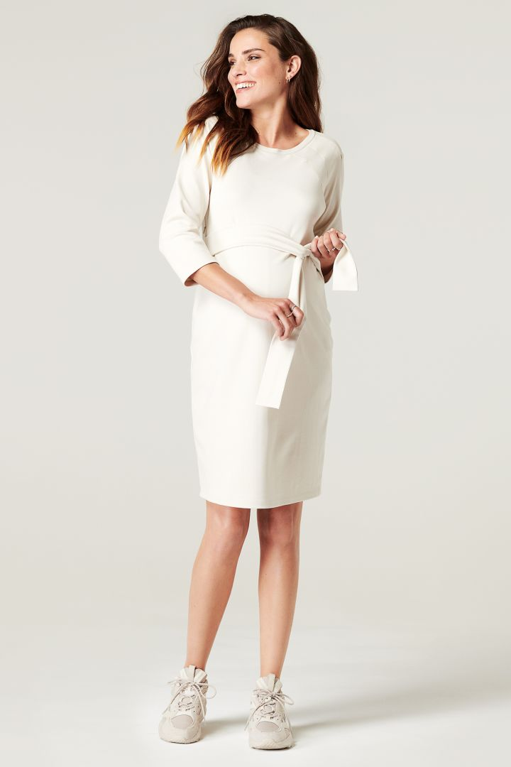 Shift Maternity and Nursing Dress with 3/4 Sleeves