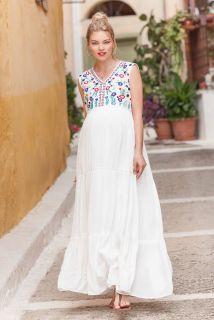 Maxi Umstands- und Stillkleid Capri Vibes