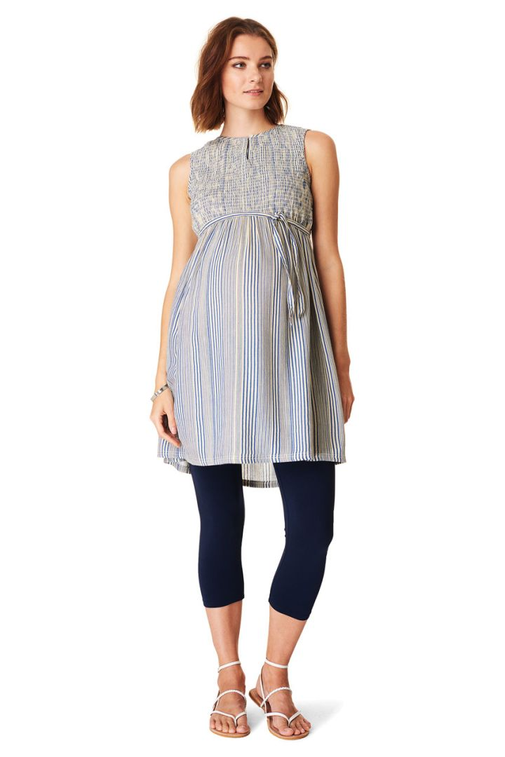 Maternity tunic with tie belt