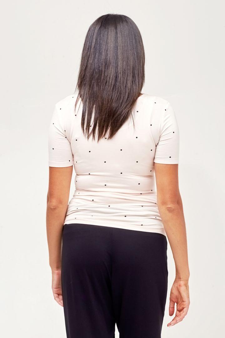 Henley Maternity and Nursing Shirt white