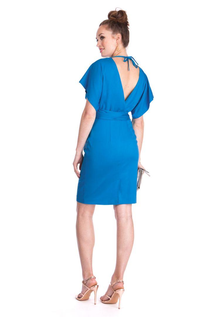 V Back Maternity Dress