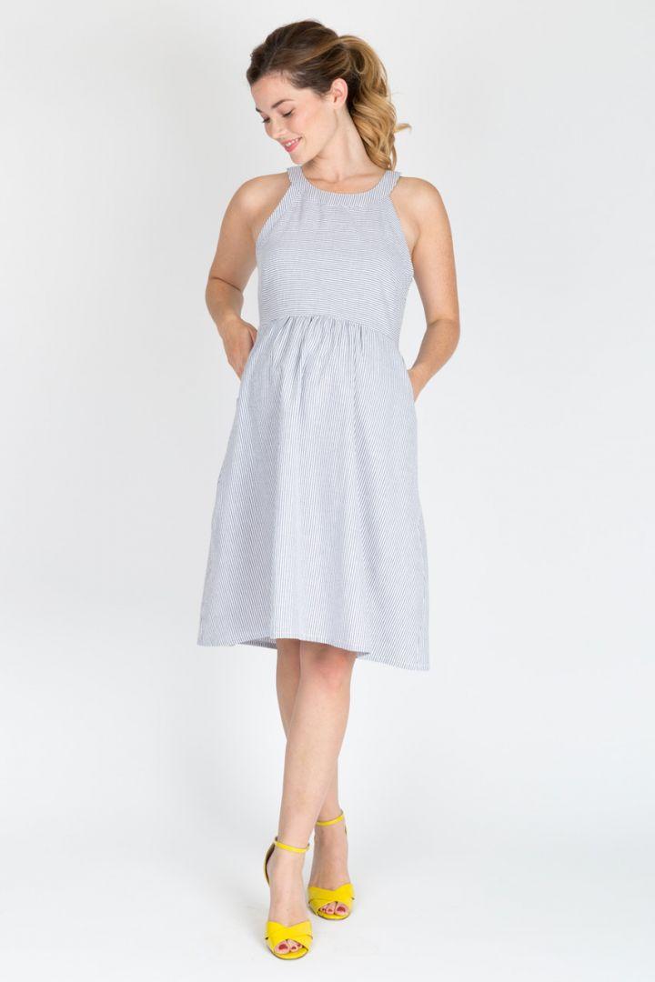 Seersucker maternity dress