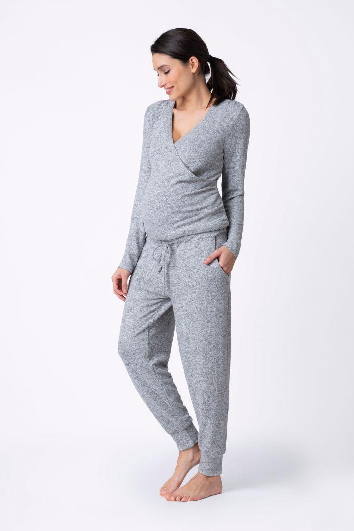 Ultra-soft Umstands- und Still-Jumpsuit