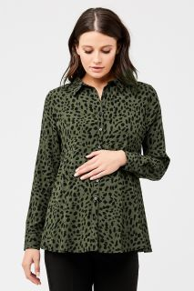Umstands- und Still-Bluse mit Animalprint