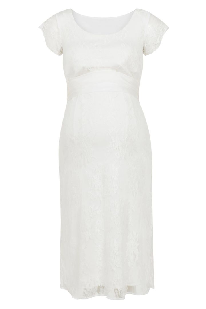 Maternity and nursing lace wedding dress