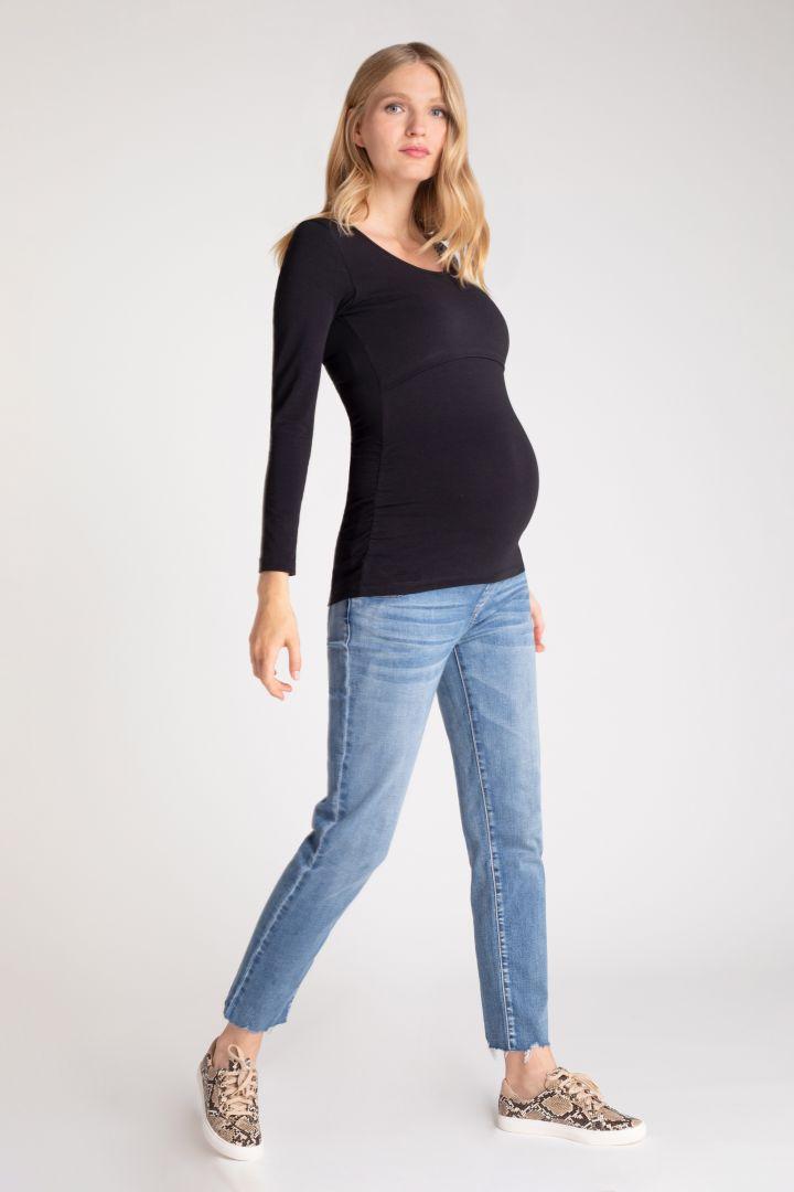 Umstands- und Stillshirt aus Bio-Baumwolle schwarz