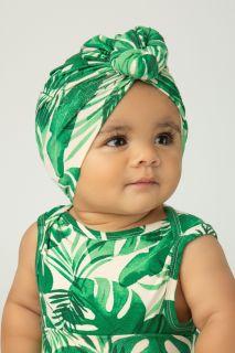 Turban mit Palmen Print