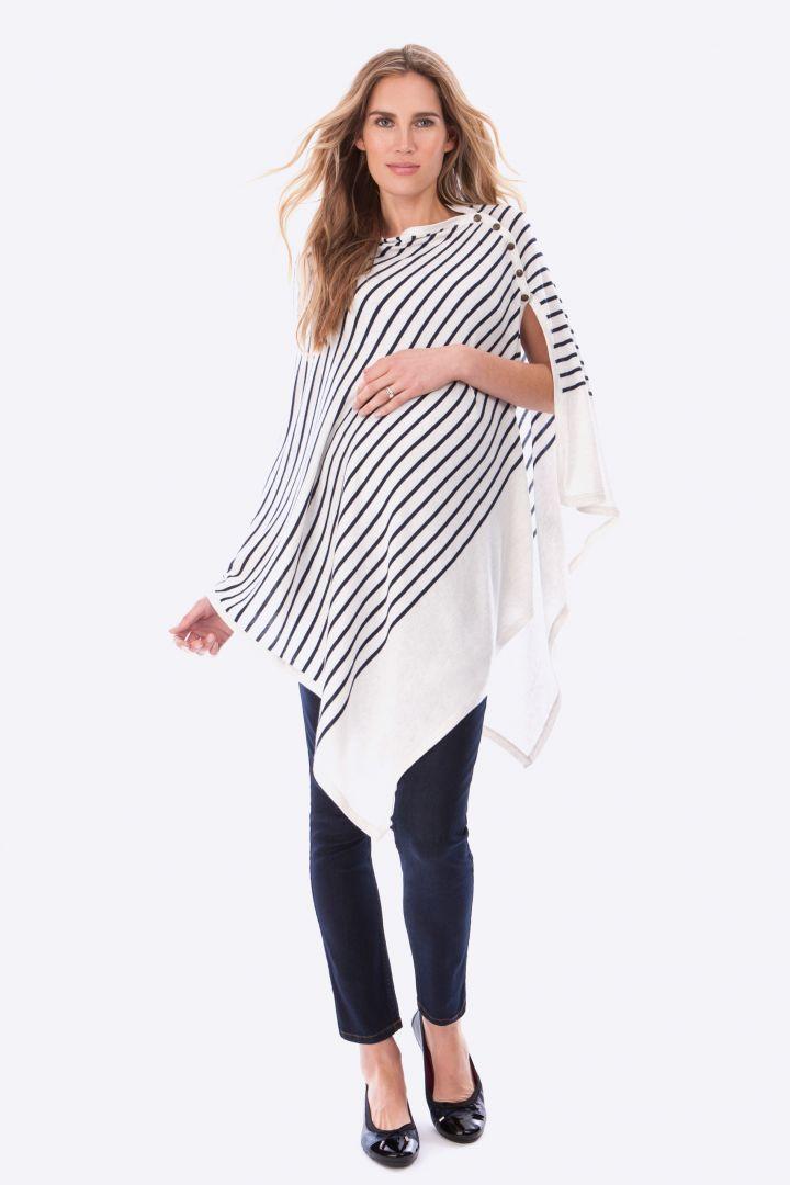 Striped Nursing Shawl
