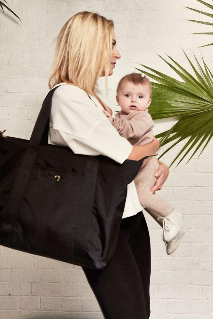 Diaper tote bag, black