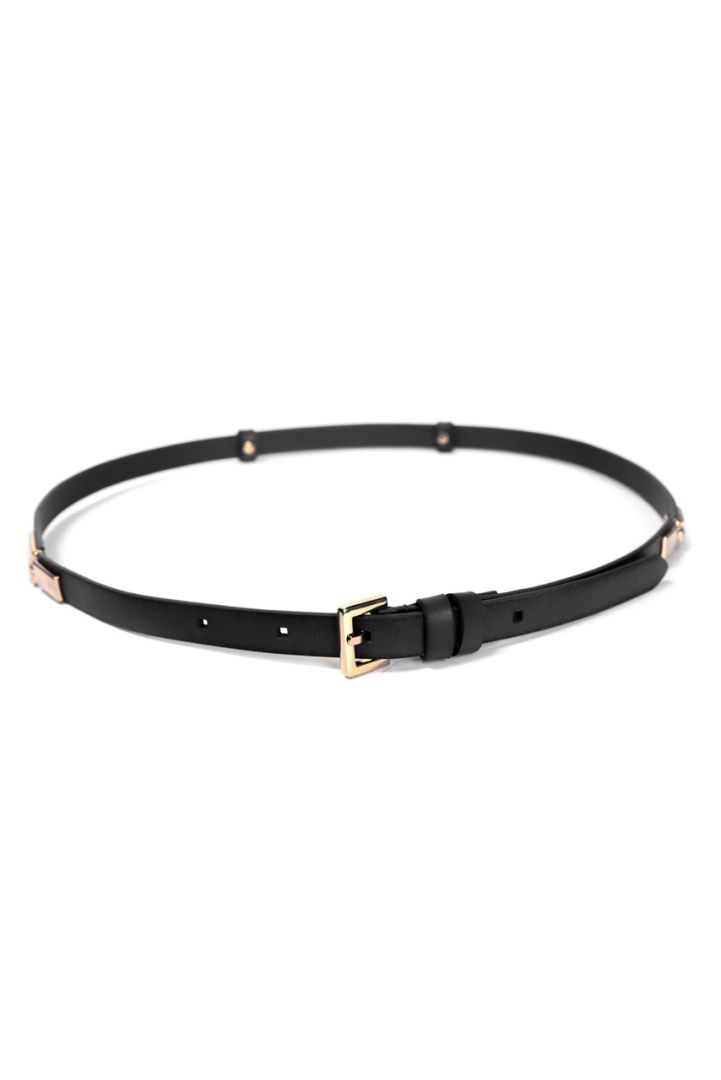 Leather Belt with Buckle black
