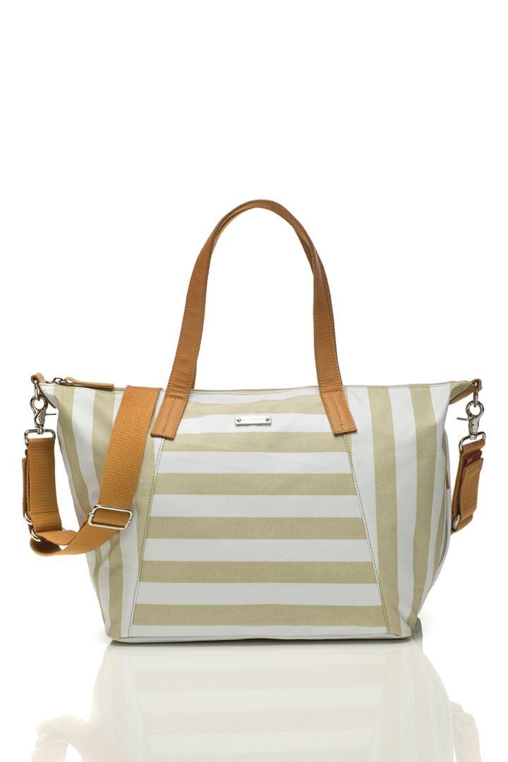 Noa changing bag Storksak stripes