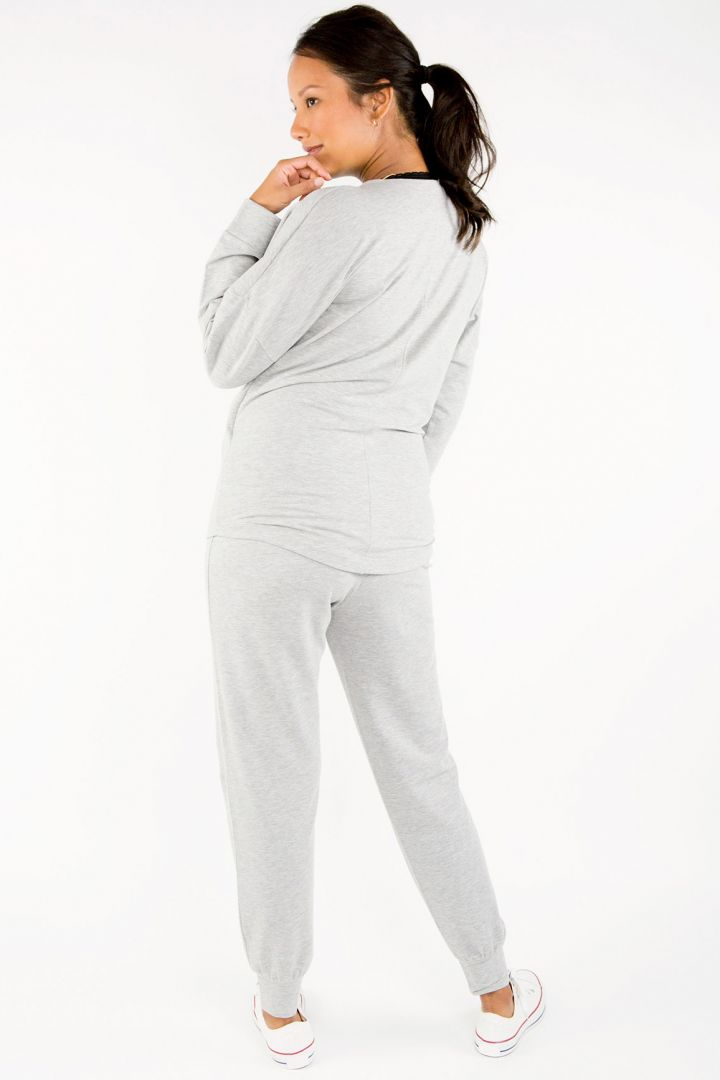 Foldover Maternity Jogger grey marle