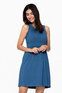 Organic Umstands- und Stillkleid blau