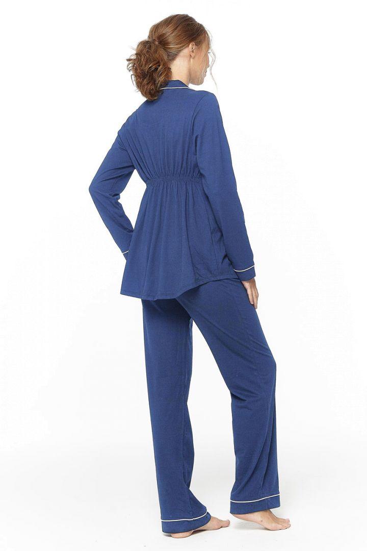 Boyfriend Umstands- und Still Pyjama blau