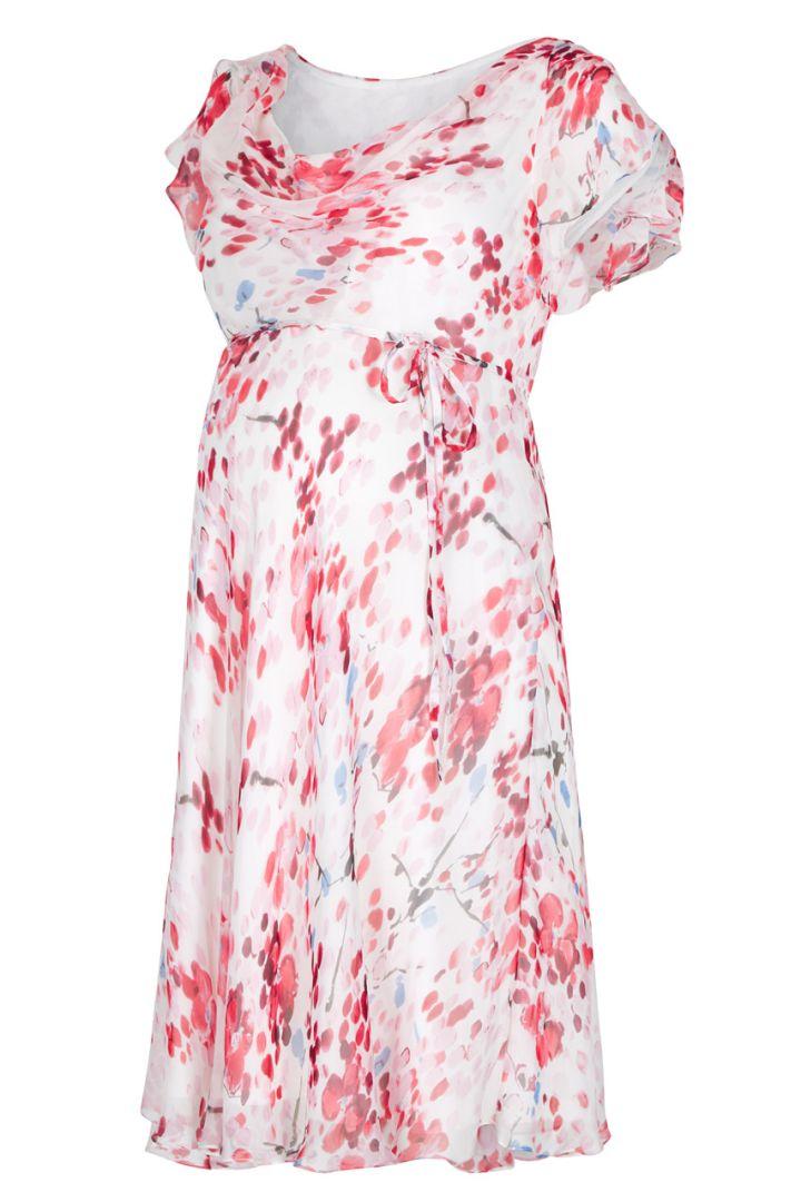 Lizzie Silk Dress cherry blossom