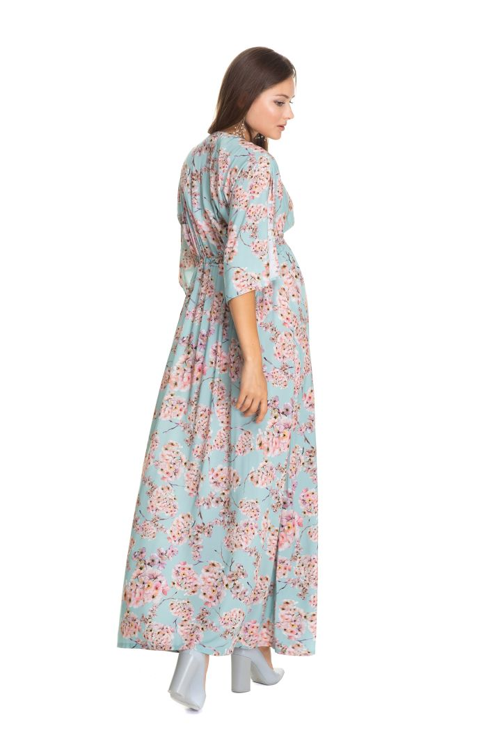 Maxi Umstandskleid mit Kirschblüten Print