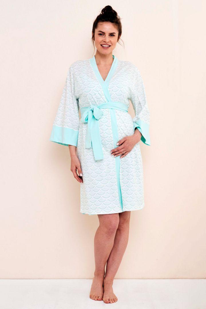 Kimono Umstandsmorgenmantel mit Print