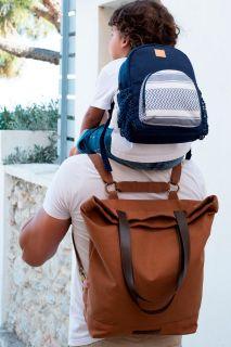 4 in 1 Wickeltasche und Rucksack Family Trip