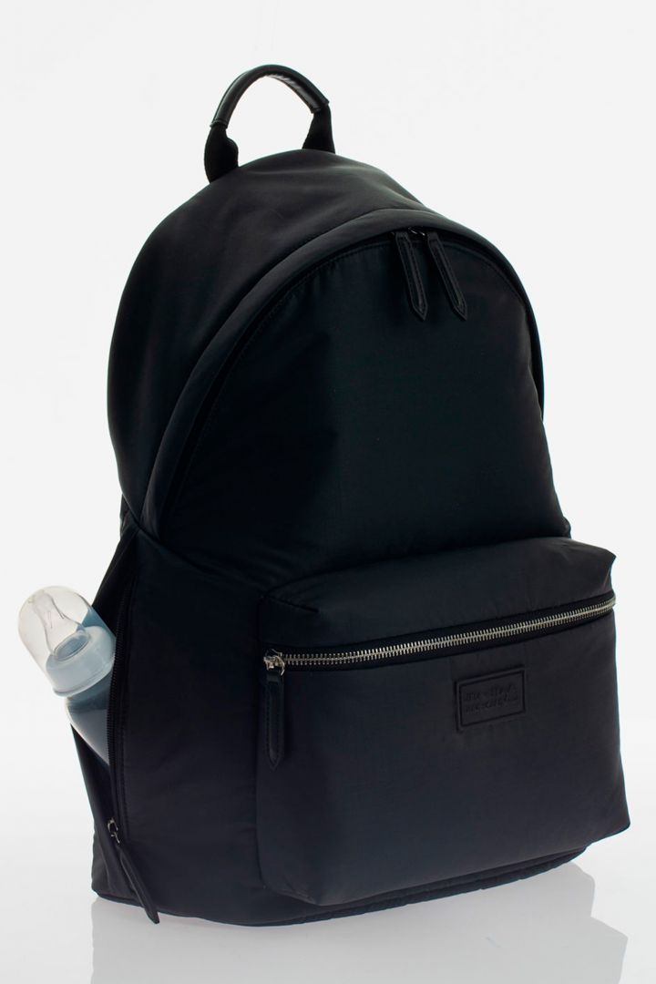 Changing Rucksack Eco Made of Recycled Nylon black