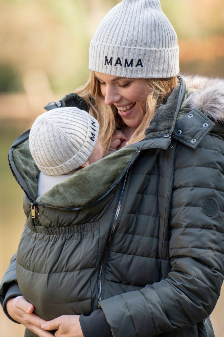 Strickmützen Set Mama & Mini grau