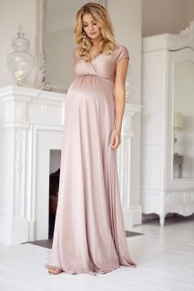 Festliches Umstands- und Stillkleid lang rosa